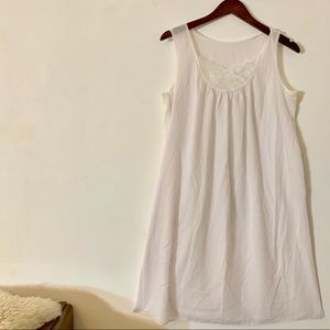 Vintage Intimates & Sleepwear - Vintage 1950s Cotton Nightie Slip Dress M/L